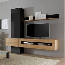 TV Media wall unit set CHUR-61 in high gloss white with...