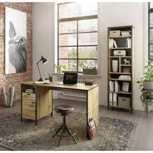 2-piece office furniture Combination, industrial style,...