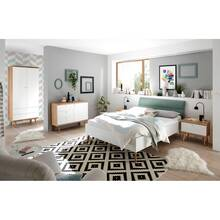 Bedroom youth room complete set MAINZ-61, white matt, oak...