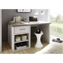 Country-style desk LUND-78 in pine white Nb./truffle oak...