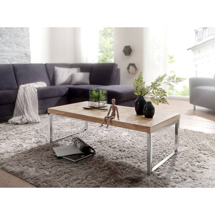 Coffee Table Solid Wood Acacia 120 Cm Wide Living Room Table Design