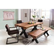 Dining room table acacia country house style full wood W...