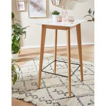 Standing table white angular W / H / D approx. 60/110/60 cm