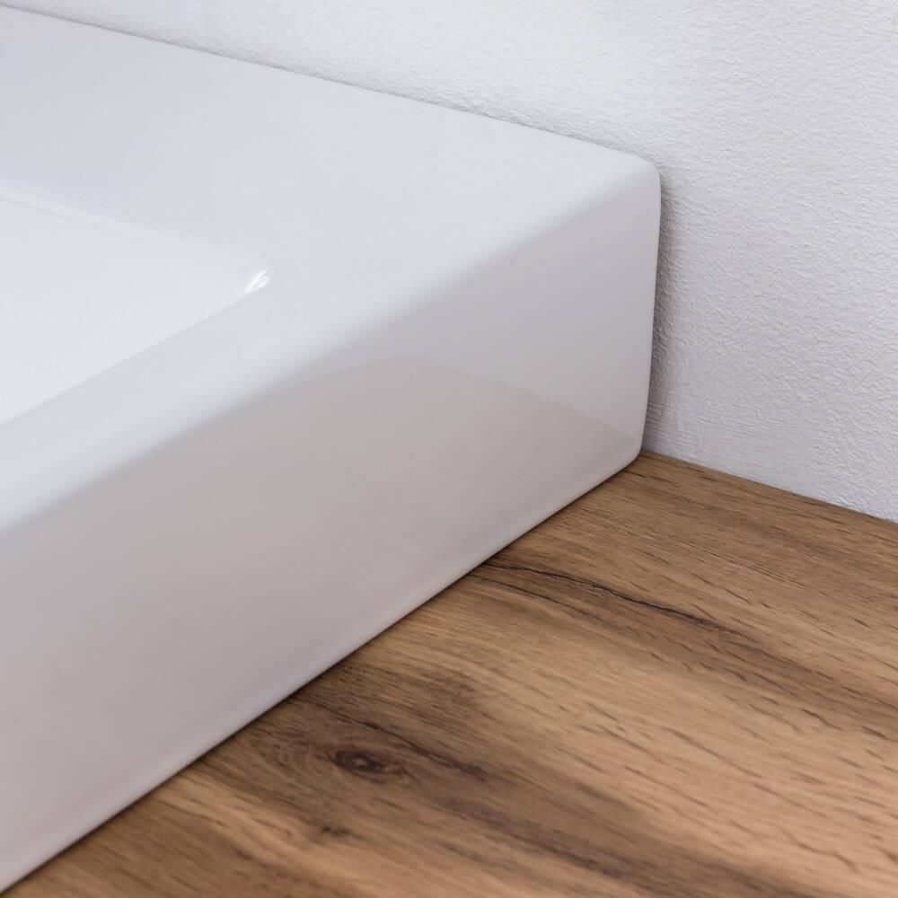 Waschtisch Unterschrank 100 cm inkl. Keramik Aufsatzbecken PESARO 03 i
