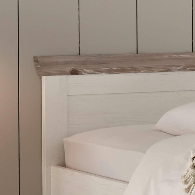 Schlafzimmer Set 4 Tlg Ferna 61 Im Landhaus Design Pinie Weiss Nb Mi