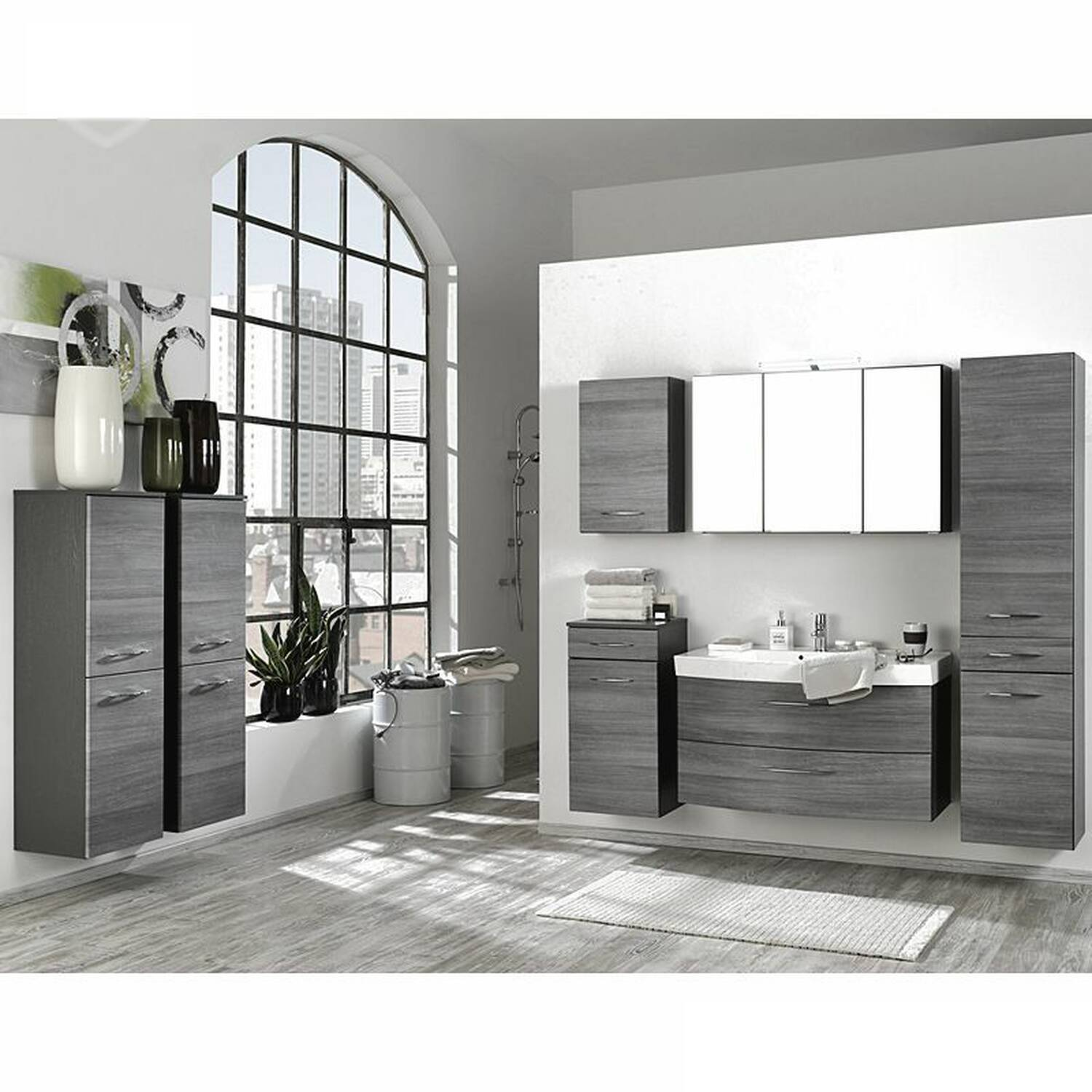 badm bel set florido 03 eiche rauchsilber graph. Black Bedroom Furniture Sets. Home Design Ideas