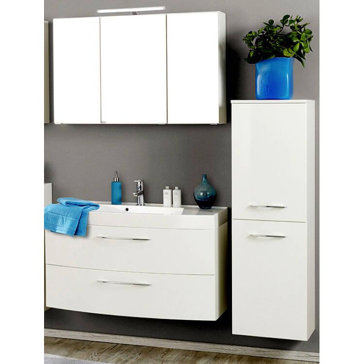 badm bel set florido 03 hochglanz wei 3 teilig l. Black Bedroom Furniture Sets. Home Design Ideas