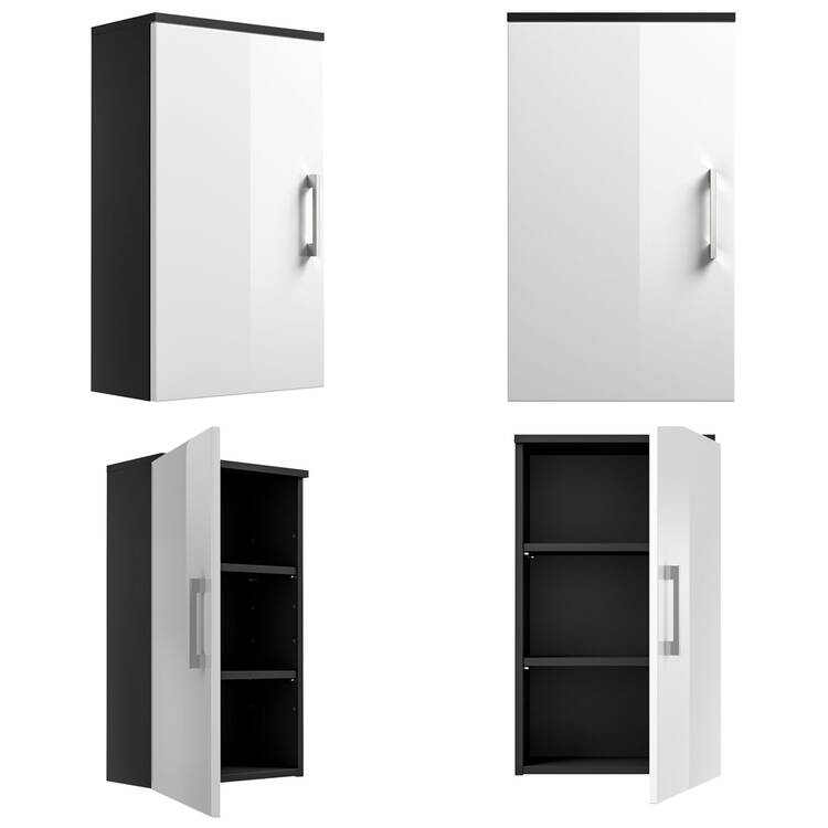 h ngeschrank rimao 100 hochglanz wei anthrazit. Black Bedroom Furniture Sets. Home Design Ideas