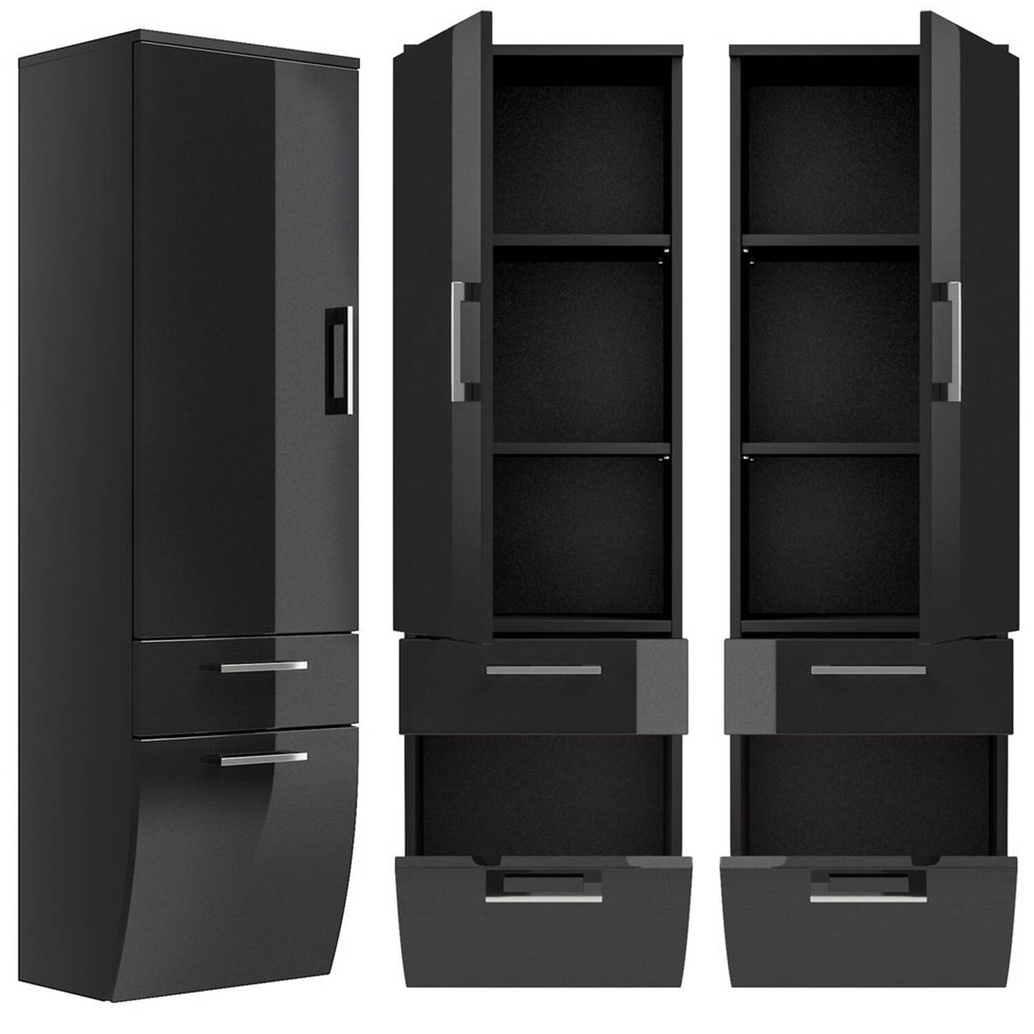 hochschrank rimao 100 hochglanz anthrazit lomado. Black Bedroom Furniture Sets. Home Design Ideas