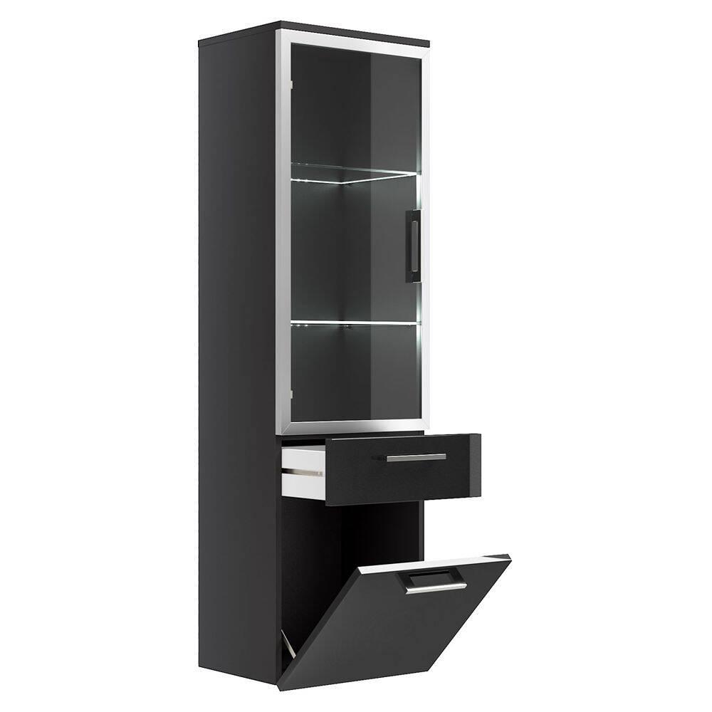 hochschrank rimao 100 hochglanz anthrazit glast. Black Bedroom Furniture Sets. Home Design Ideas