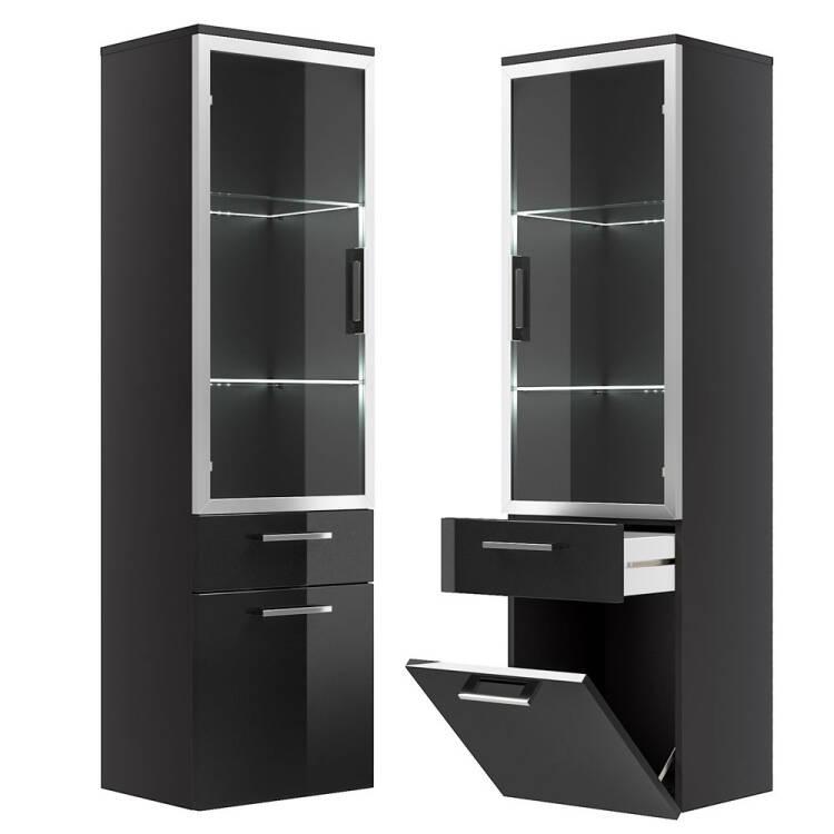 hochschrank rimao 100 hochglanz anthrazit glast r. Black Bedroom Furniture Sets. Home Design Ideas