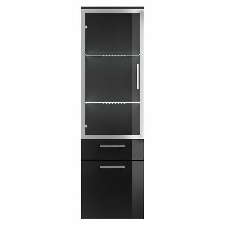 hochschrank rimao 100 hochglanz anthrazit glast r. Black Bedroom Furniture Sets. Home Design Ideas