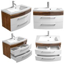 Bathroom washbasin with vanity unit RIMAO-02 high gloss...