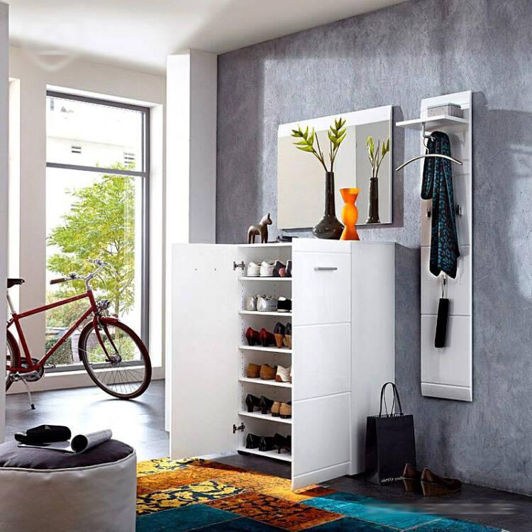 garderoben set danaro 01 hochglanz wei 3 teilig b. Black Bedroom Furniture Sets. Home Design Ideas