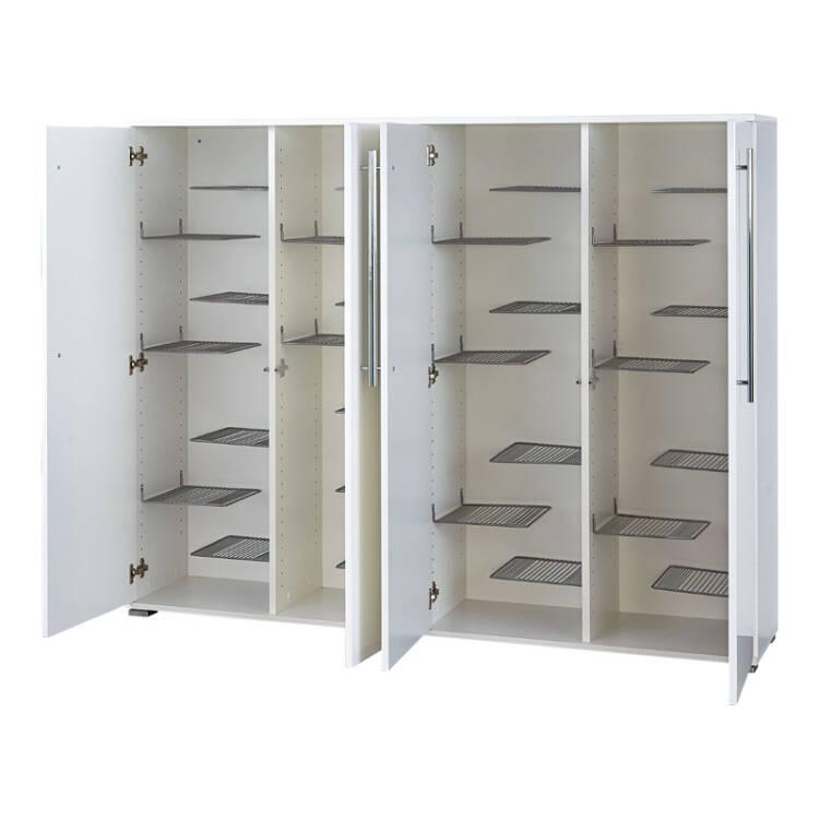 Schuhschrank Und Spiegel Kompakt Set Sedie 01 Hochglanz Weiß 2 Teilig B X H X T Ca 160 X 198 X 34 Cm