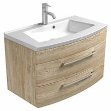 Washbasin with vanity unit 82cm RIMAO-02 in Sonoma oak,...
