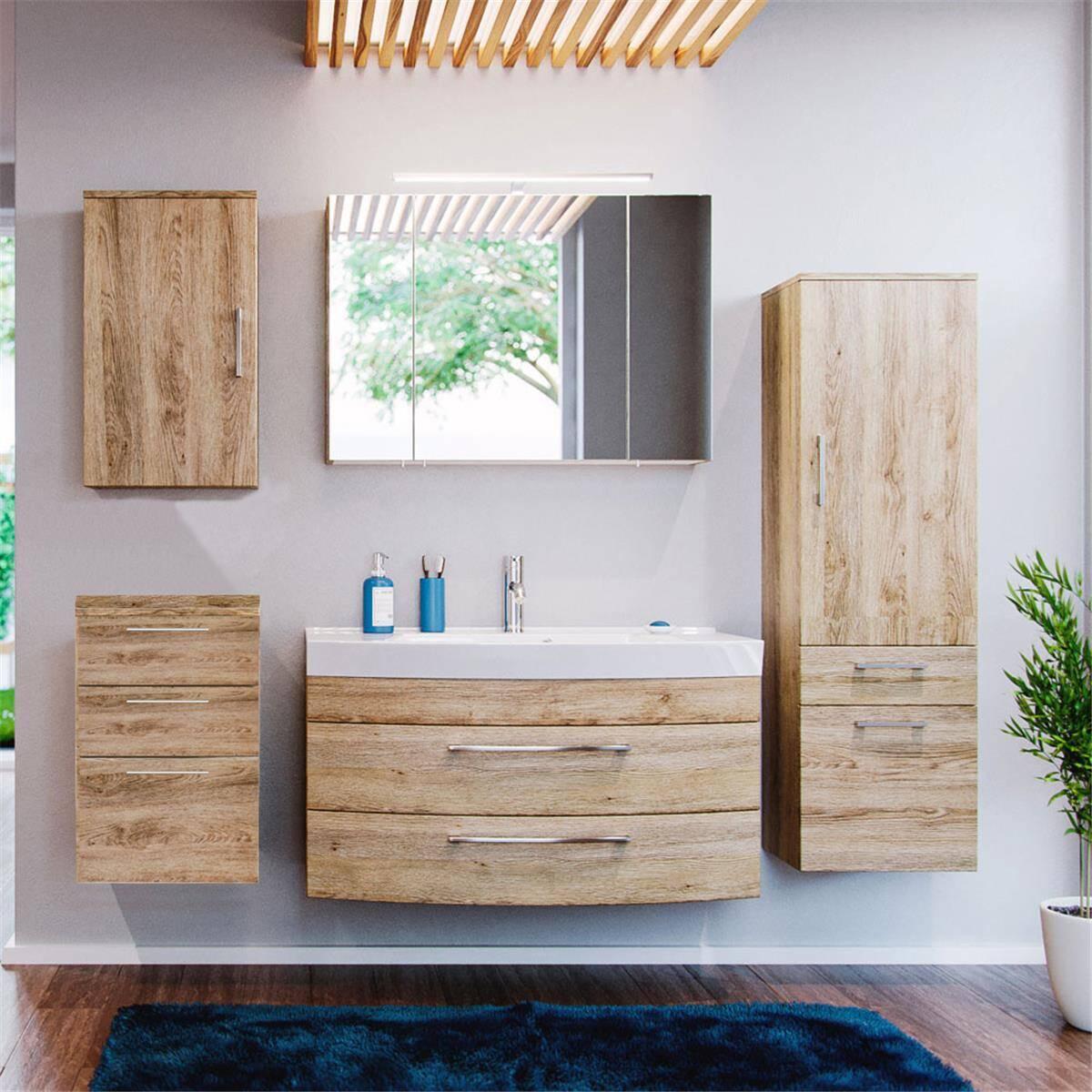 badm bel set rimao 100 eiche sonoma 100cm wasch. Black Bedroom Furniture Sets. Home Design Ideas