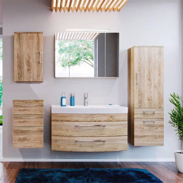 badm bel set rimao 100 eiche sonoma 100cm waschtisch. Black Bedroom Furniture Sets. Home Design Ideas