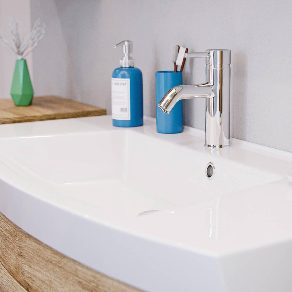 badm bel waschplatz set rimao 100 eiche sonoma. Black Bedroom Furniture Sets. Home Design Ideas