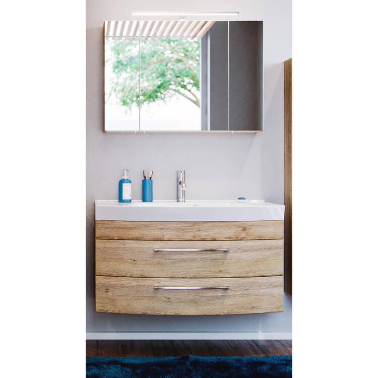 badm bel waschplatz set rimao 100 eiche sonoma 100cm. Black Bedroom Furniture Sets. Home Design Ideas