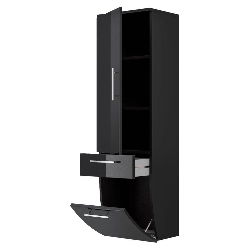 hochschrank talona 02 hochglanz anthrazit 166 47 euro. Black Bedroom Furniture Sets. Home Design Ideas