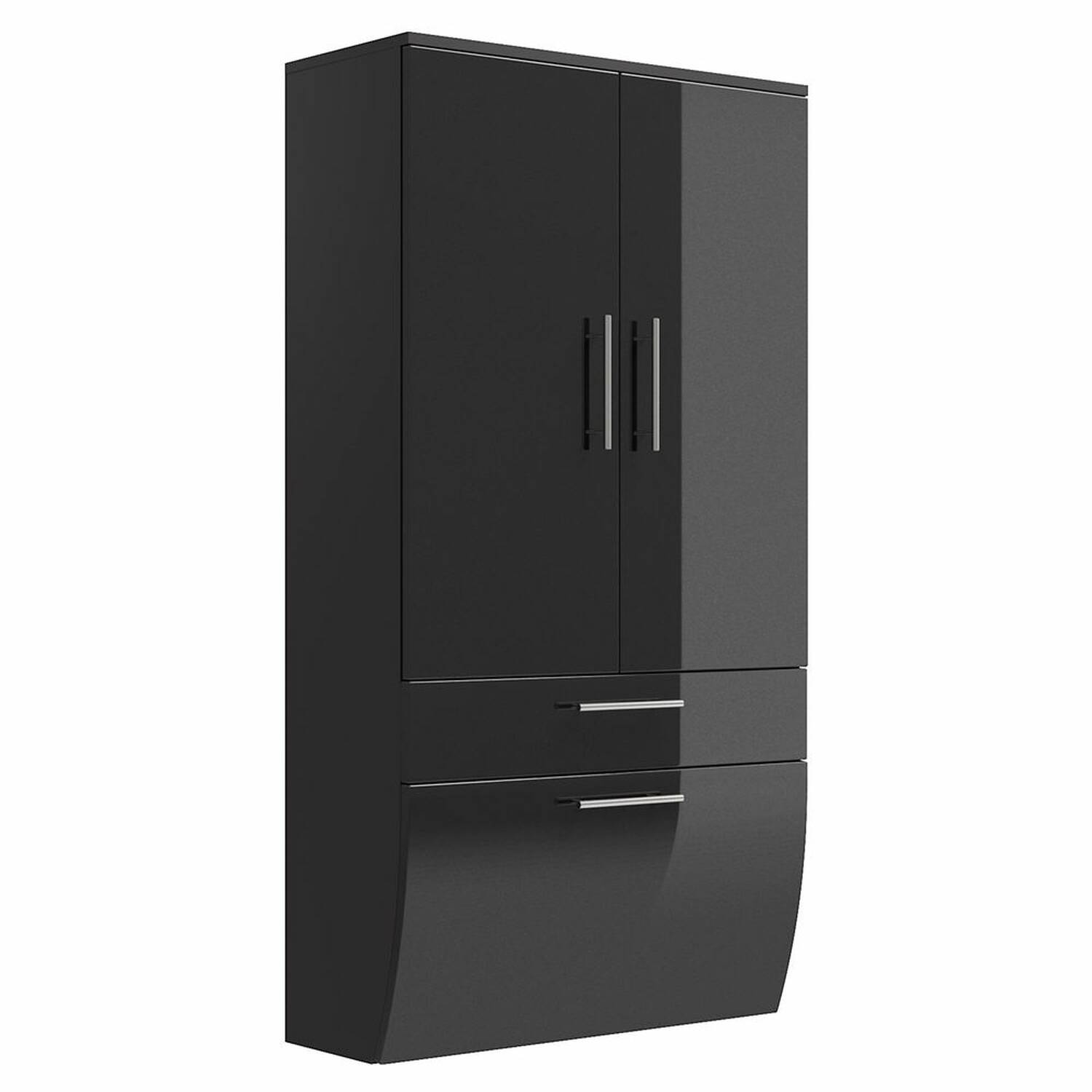 hochschrank breit talona 02 hochglanz anthrazit 70cm. Black Bedroom Furniture Sets. Home Design Ideas