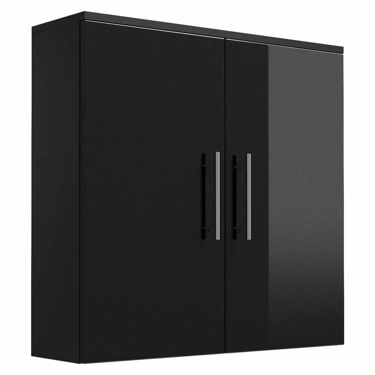 h ngeschrank breit talona 02 hochglanz anthrazit. Black Bedroom Furniture Sets. Home Design Ideas