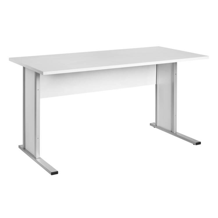 Schreibtisch typ4000 lichtgrau breite 140cm lomado for Schreibtisch breite 70 cm