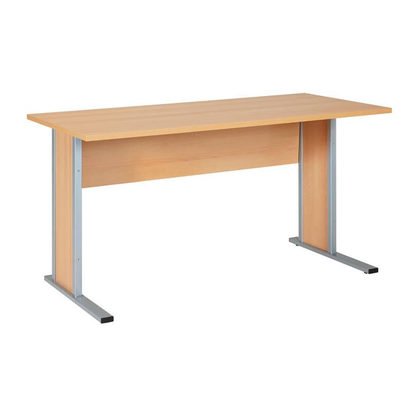 Schreibtisch typ4000 buche hell breite 140cm lomad for Wohnzimmertisch buche hell