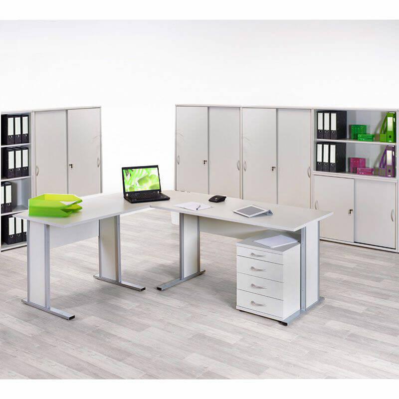Büromöbelset TYP4000 lichtgrau, 10-teilig