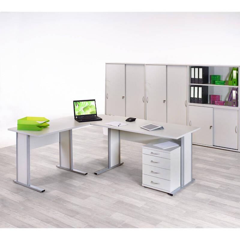Büromöbelset TYP4000 lichtgrau, 8-tlg