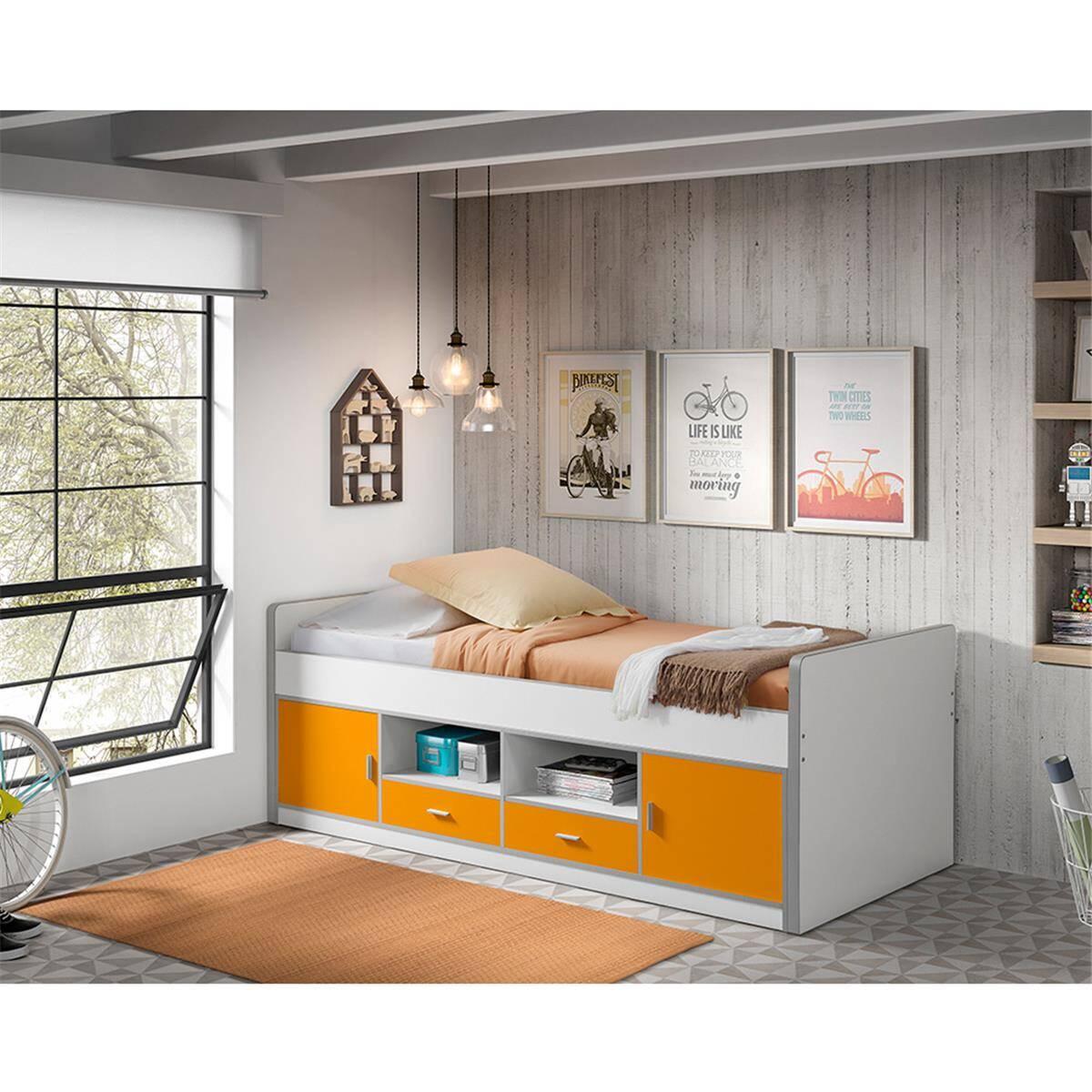 kinderbett jugendbett bonny 12 90x200cm wei. Black Bedroom Furniture Sets. Home Design Ideas