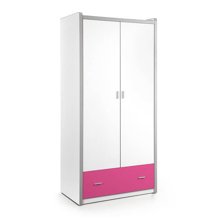 kleiderschrank bonny 12 2 trg 100cm wei fuchsia. Black Bedroom Furniture Sets. Home Design Ideas