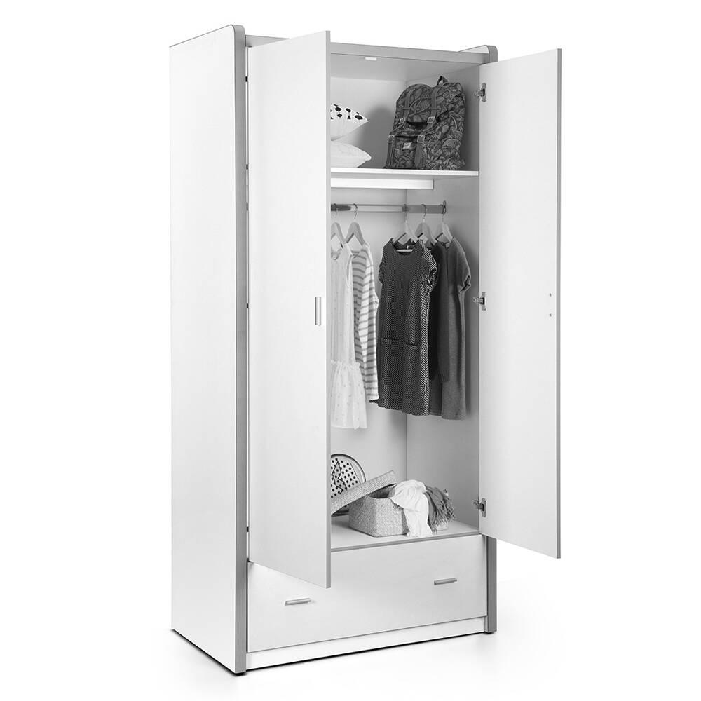 kleiderschrank bonny 12 2 trg 100cm wei or. Black Bedroom Furniture Sets. Home Design Ideas