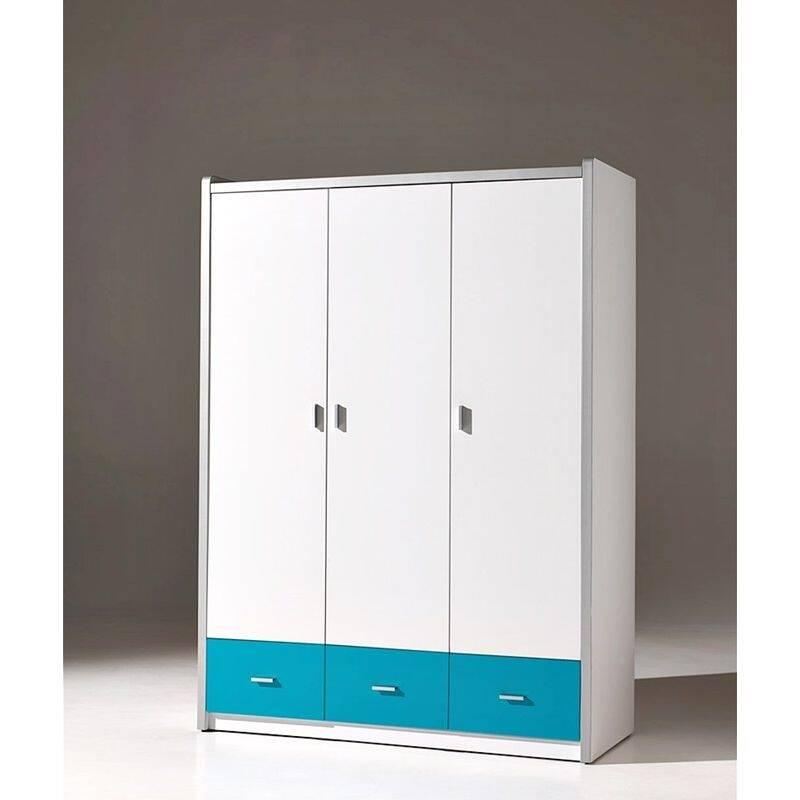 kleiderschrank bonny 12 3 trg 147cm wei t u. Black Bedroom Furniture Sets. Home Design Ideas