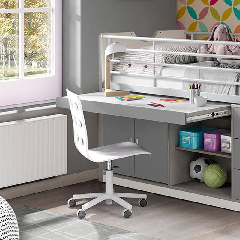 Kinderbett mit schreibtisch bonny 12 90x200cm wei s for Schreibtisch 90 x 60