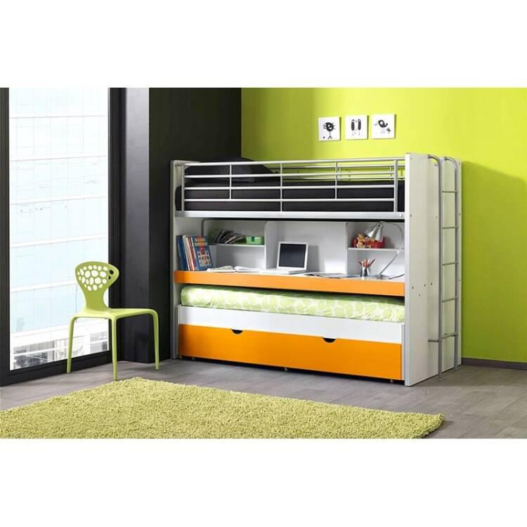 20% Hochbett BONNY 12, Mit Schreibtisch, 2 Ter Liegefläche Und Bettkasten,  90x200cm