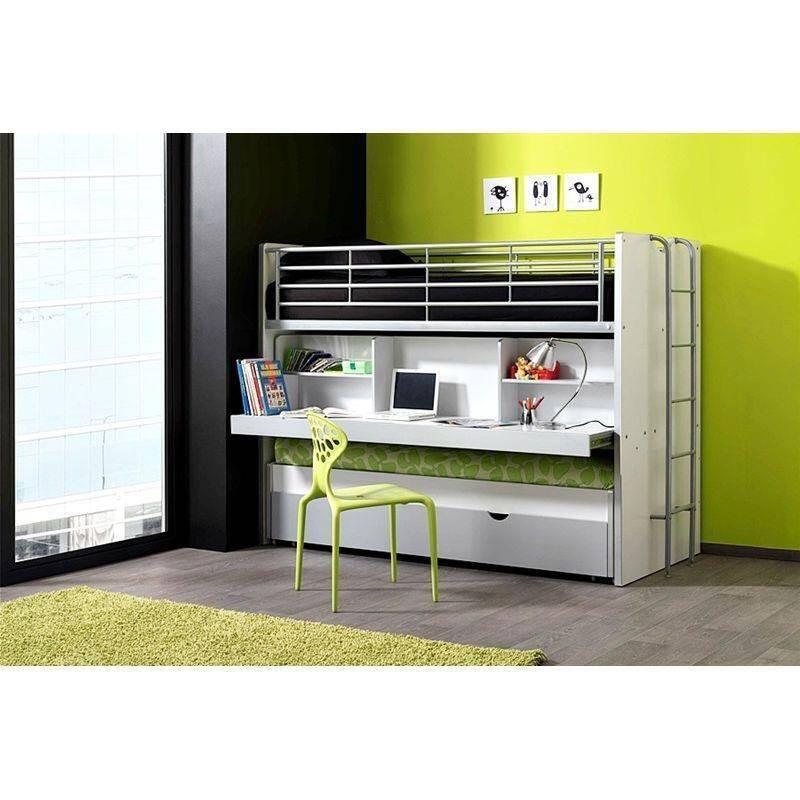 hochbett bonny 12 mit schreibtisch 2 ter liegefl au. Black Bedroom Furniture Sets. Home Design Ideas