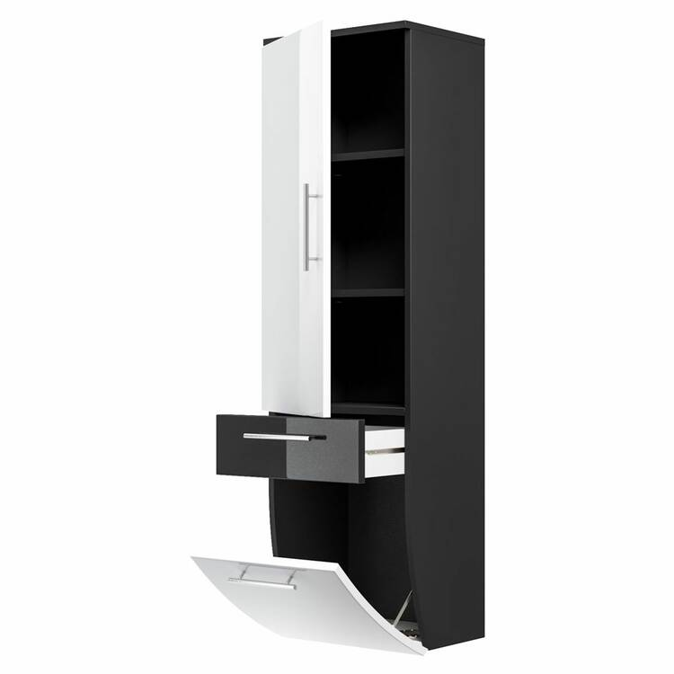 hochschrank talona 02 hochglanz wei anthrazit b x h. Black Bedroom Furniture Sets. Home Design Ideas