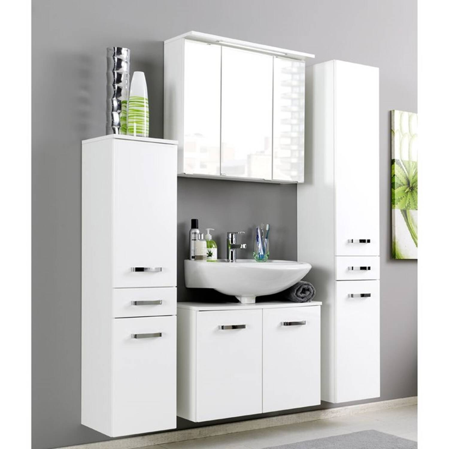 waschbeckenunterschrank 70 cm waschbeckenunterschrank salona wei 70 cm bad badschr nke. Black Bedroom Furniture Sets. Home Design Ideas