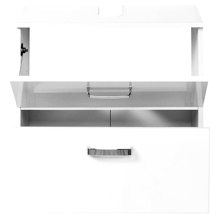 waschbeckenunterschrank padua 03 hochglanz wei 70cm. Black Bedroom Furniture Sets. Home Design Ideas
