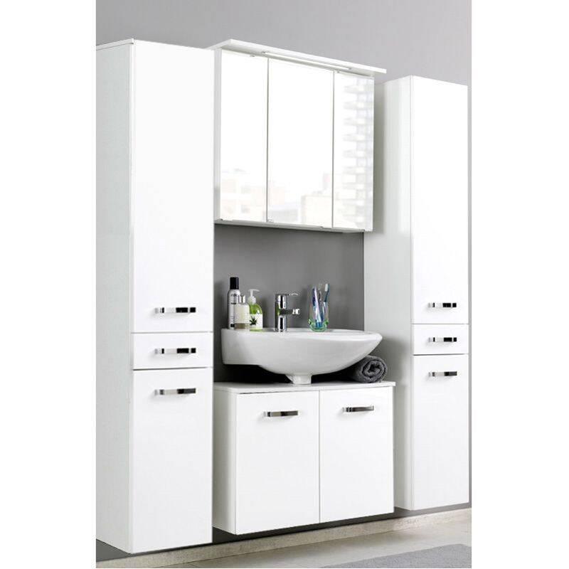 hochschrank padua 03 hochglanz wei lomado ei. Black Bedroom Furniture Sets. Home Design Ideas