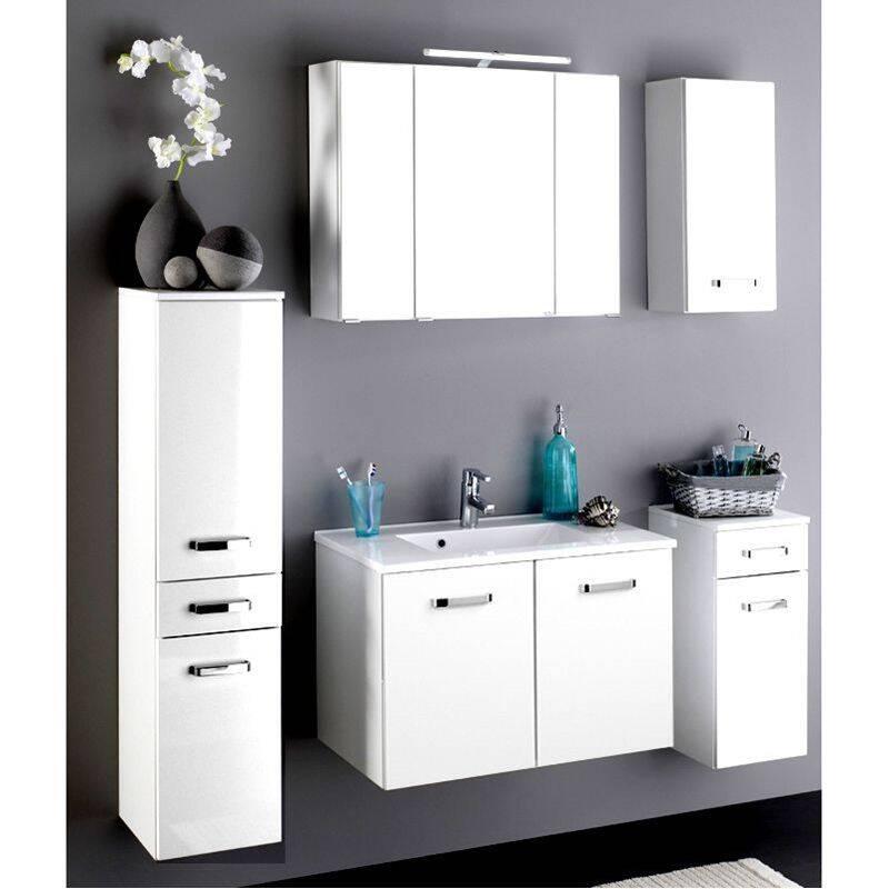 waschtisch padua 03 hochglanz wei 2 trg 80cm. Black Bedroom Furniture Sets. Home Design Ideas