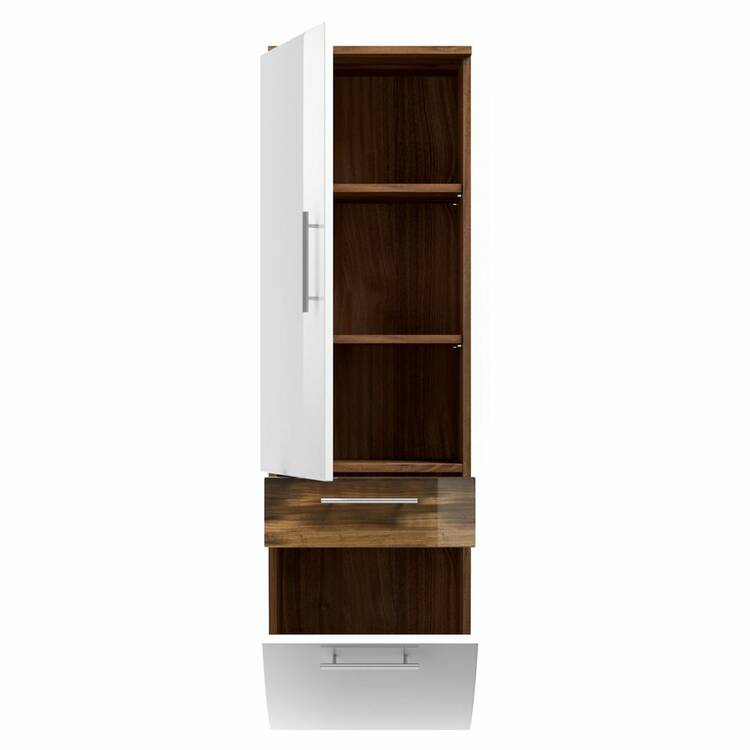 hochschrank talona 02 hochglanz wei walnuss nb b x. Black Bedroom Furniture Sets. Home Design Ideas