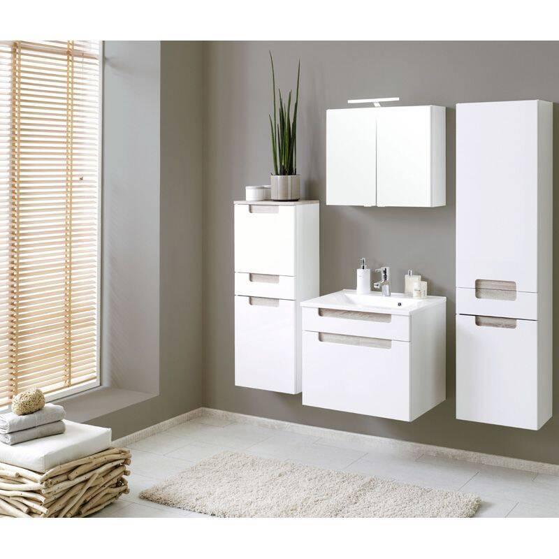 hochschrank merano 03 hochglanz wei eiche son. Black Bedroom Furniture Sets. Home Design Ideas