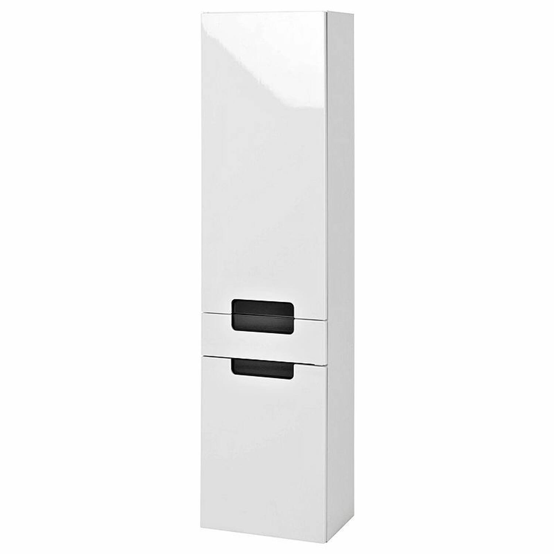 Hochschrank MERANO-03 Hochglanz weiß, grau, B=40cm