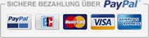 sichere Kreditkartenzahlung über Paypal